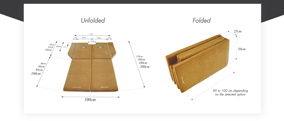 SPACEBED® folded and unfolded