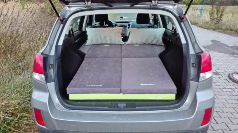 Sleeping In The Car Subaru Legacy